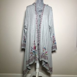 HP🎉 NWT Johnny Was Embroidered Duster Cardigan